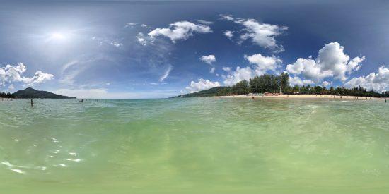 Thailand Strand weit draussen