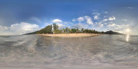 Thailand Strand Sturm